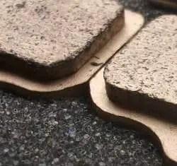 Sintered brake pad detail