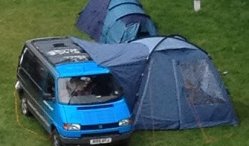 Like a tent eating a van