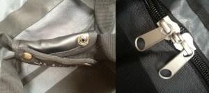 L: Industrial poppers R: Lockable zip