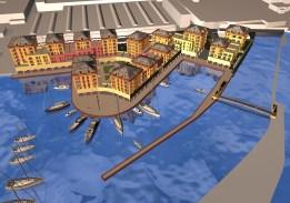 Rendering per Marina Genova Aeroporto