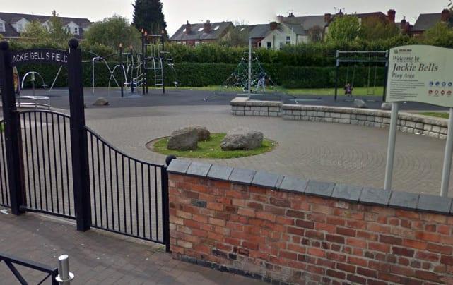 Police speak to woman seen taking photos in Jackie Bells Play Area