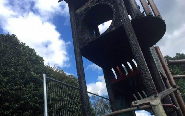 Council offers £1,000 reward to help catch arsonists who torched Arnold play park