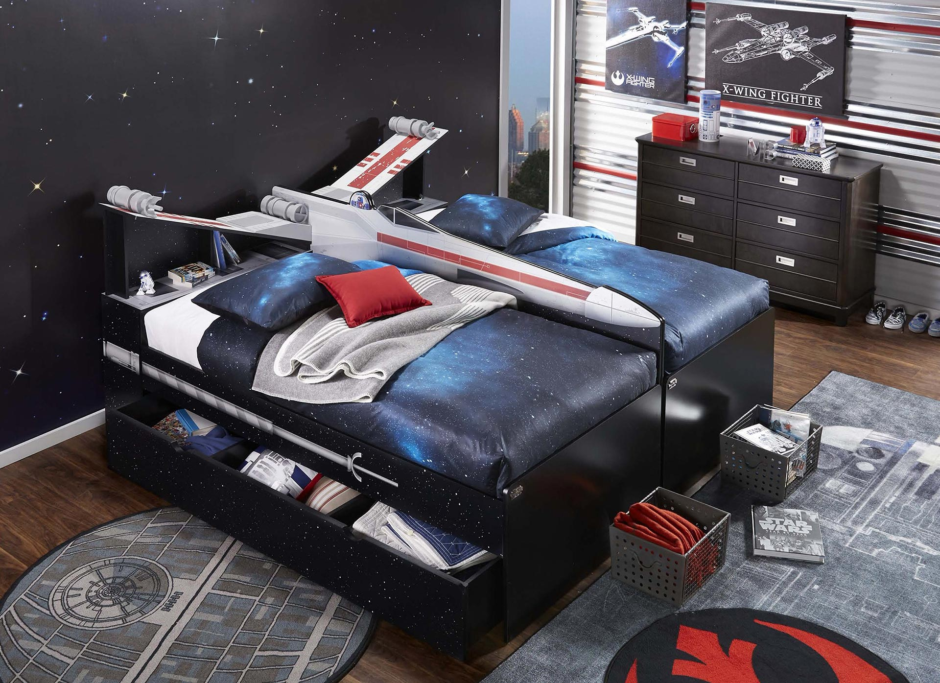 Reputable Star Wars X Wing Twin Bookcase Bed Star Wars Bedtime Stories Star Wars Bedding Queen Size baby Star Wars Bed