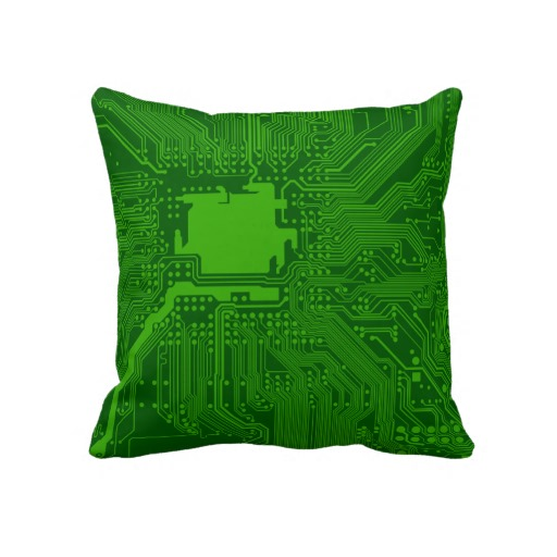 Circuit Board Throw Pillow 1