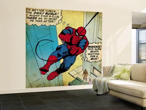 Marvel Wall Mural marvel comics retro wall murals | geek decor