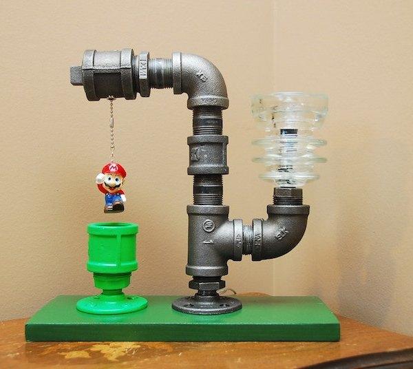 Super Mario Pipe Lamp 3
