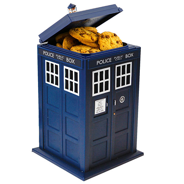 Tardis Talking Cookie Jar 1