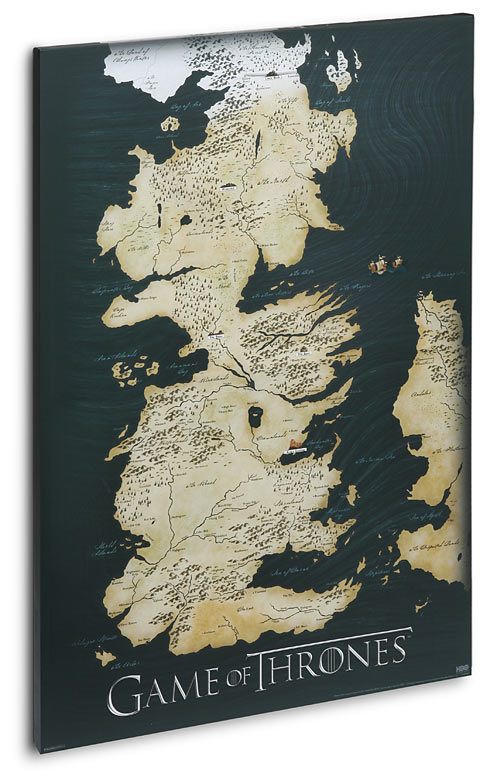 Game of Thrones Canvas Map Poster 1