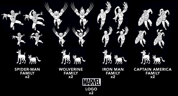 Marvel Family Car Decals 3