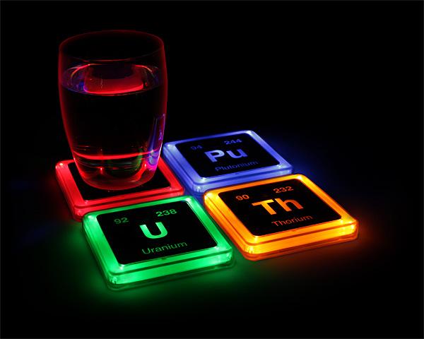 Radioactive Light Up Coasters