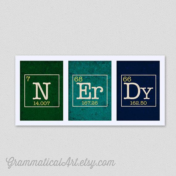 NErDy Science Prints