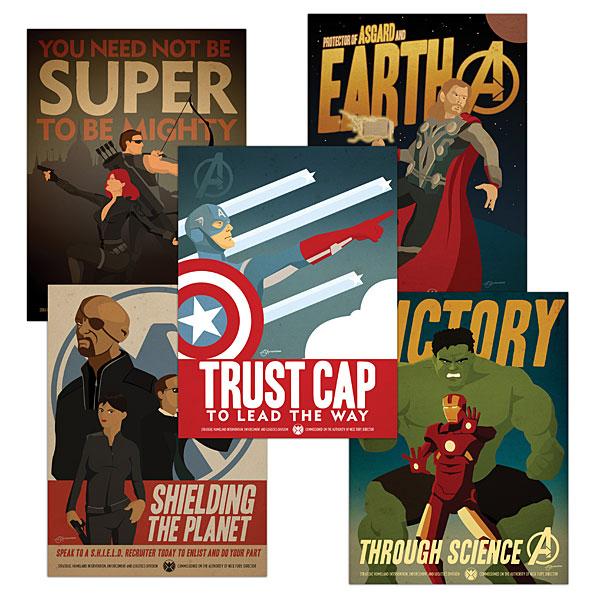 Marvel's AVENGERS Propaganda Posters