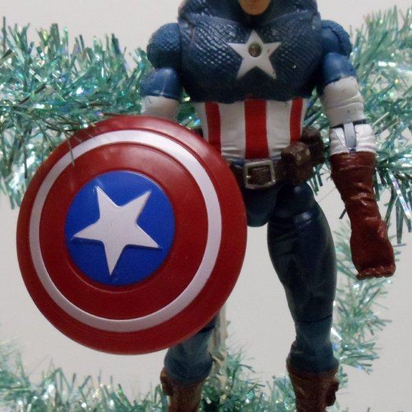 Captain America Avengers Christmas Ornament - Geek Decor