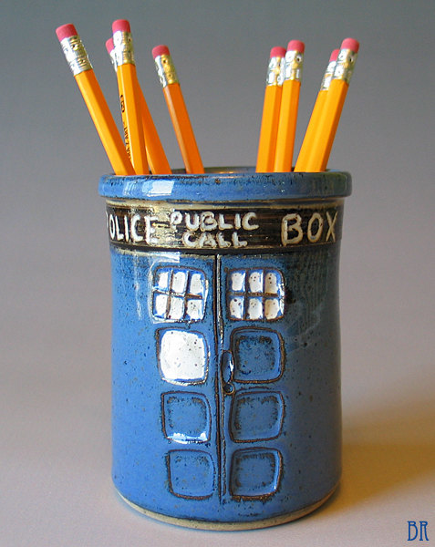 Doctor Who TARDIS Pen Cup - Geek Decor