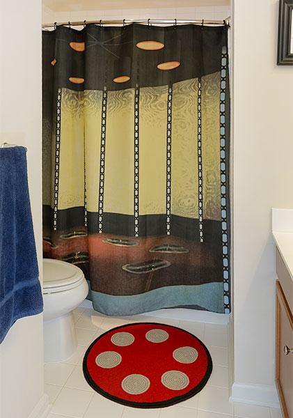 Star Trek Transporter Room Shower Curtain and Bath Mat