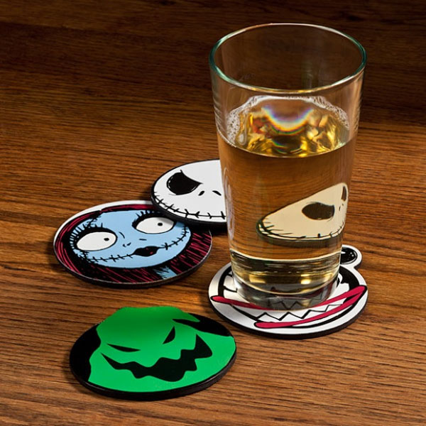 Nightmare Before Christmas Coasters - Geek Decor
