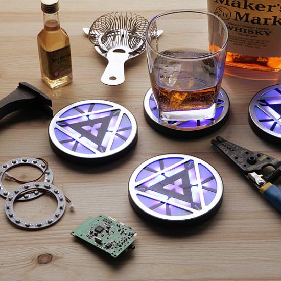 Iron Man Arc Reactor Coasters - Geek Decor