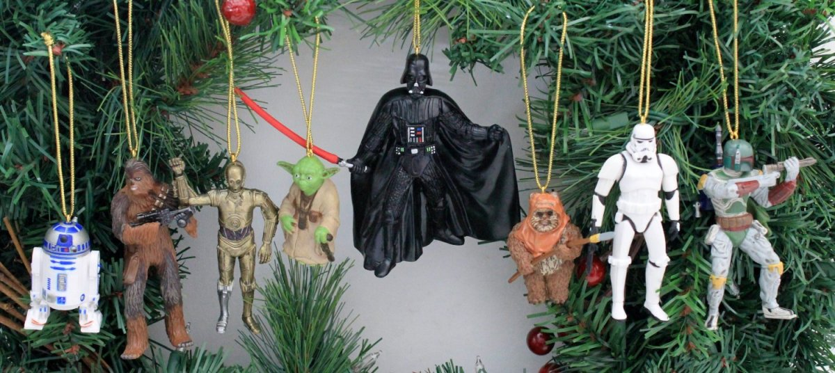 8 Piece STAR WARS Christmas Ornament Set