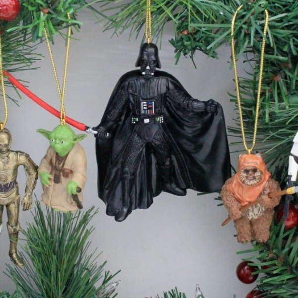 star wars christmas ornaments geek decor - Star Wars Christmas Decorations