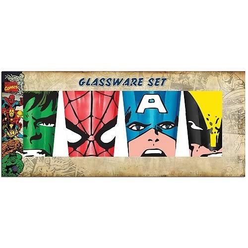Marvel Heroes Pint Glass Set - Geek Decor