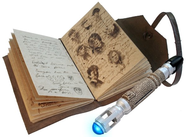 Doctor Who Journal of Impossible Things and Mini Sonic Screwdriver Pen - Geek Decor