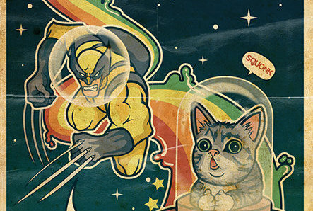 Limited Edition Lil BUB x Wolverine Print - Geek Decor