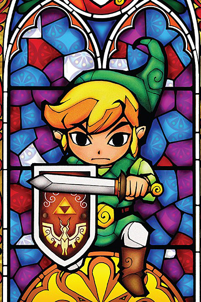 Legend of Zelda Stained Glass Wall Decal - Geek Decor