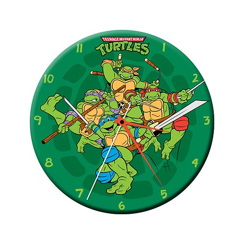 Teenage Mutant Ninja Turtles Clock - Geek Decor