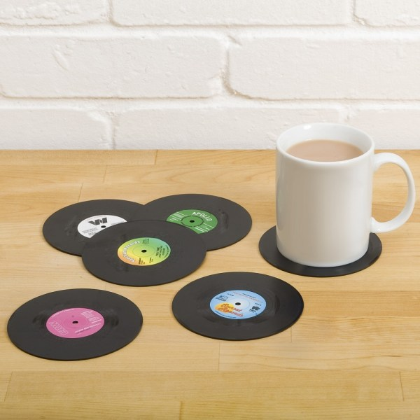 Vinyl Record Coasters - Geek Decor