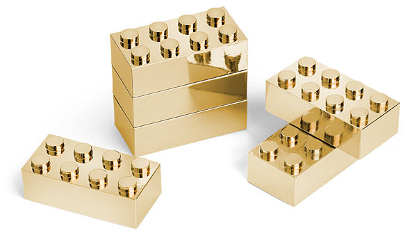 Gold Lego Set Unpackaged - Geek Decor