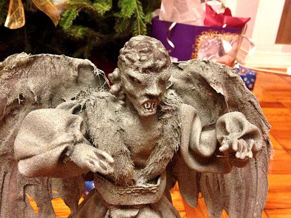Weeping Angel Christmas Tree Topper Detail - Geek Decor