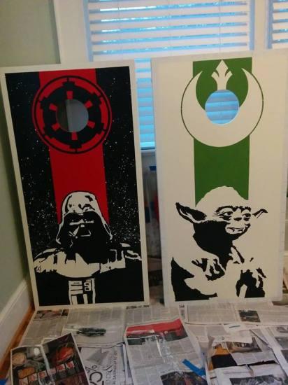 Star Wars Cornhole Board - Geek Decor