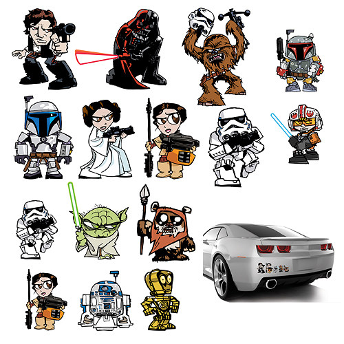 Star Wars Car Decals Of Your Favorite Characters Geek Decor - Star wars car decals