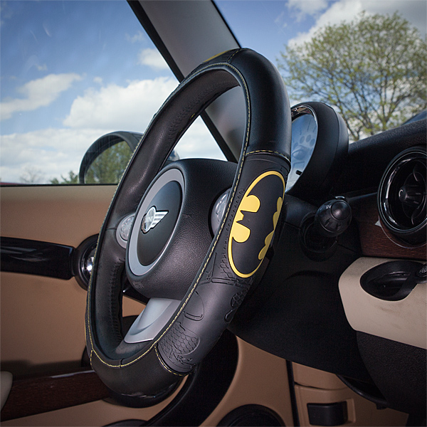 DC Steering Wheel Cover In Use - Geek Decor