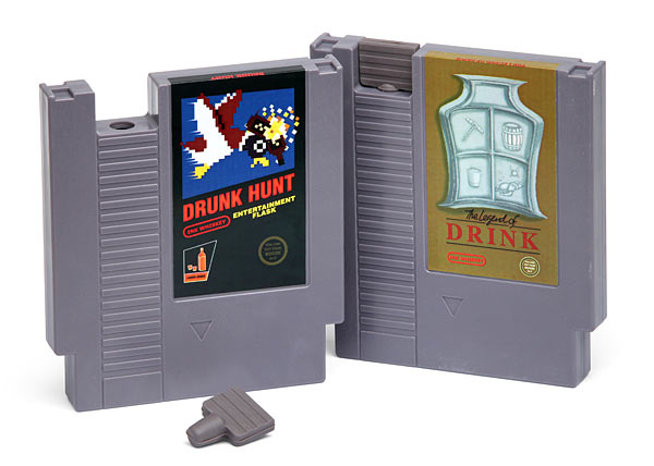 Gaming Cartridge Flasks - Geek Decor