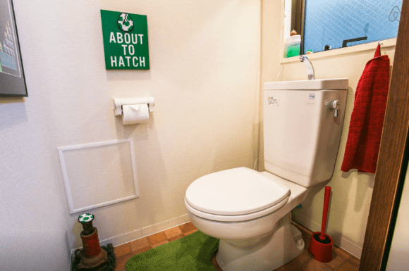 Super Mario Apartment Bathroom - Geek Decor