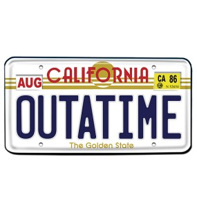 Outatime License Plate Replica - Geek Decor