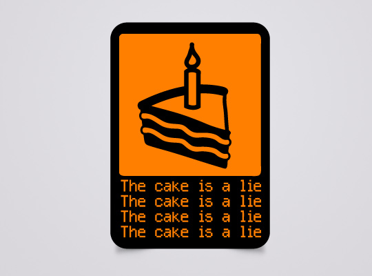 The Cake Is A Lie Decal - Geek Decor