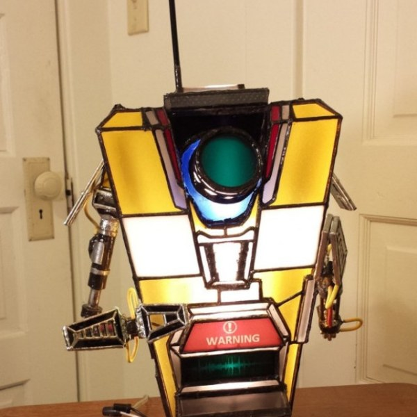 Claptrap Lamp - Front - Geek Decor