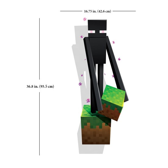 Enderman Wall Cling Measurements - Geek Decor