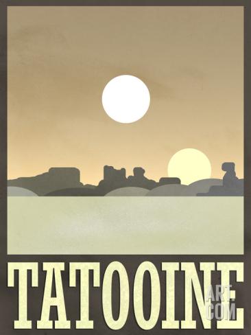 Tattooine Travel Poster -- Geek Decor