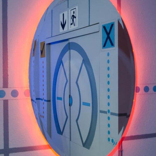 Portal Bedroom Orange Portal - Geek Decor