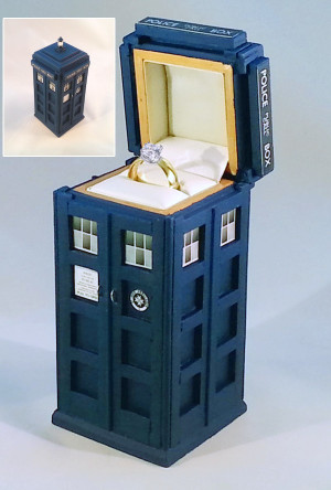 TARDIS Engagement Ring Box - Geek Decor