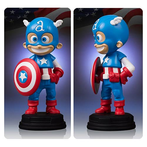 Skottie Young Captain America Statue -- Geek Decor