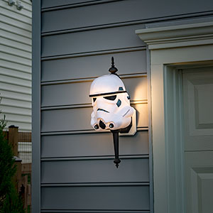 Storm Trooper Porch Light Cover -- Geek Decor