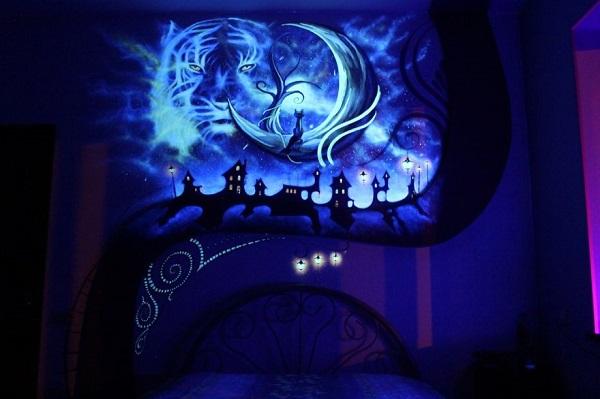 Dark Mural Dark Room - Geek Decor