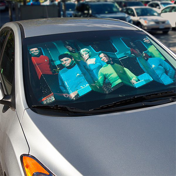 Star Trek Sunshade On Display - Geek Decor