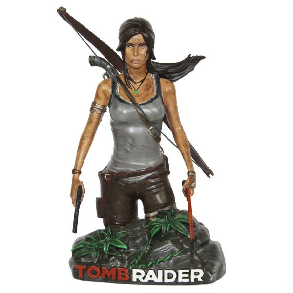 Tomb Raider Bust Front - Geek Decor