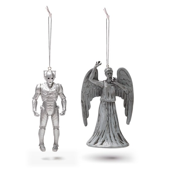 Doctor Who Cyberman and Weeping Angel Two Pack - Geek Decor