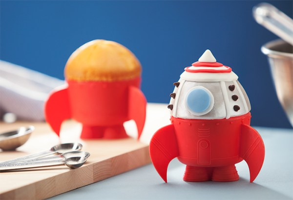Rocket Ship Baking Cups On Display - Geek Decor